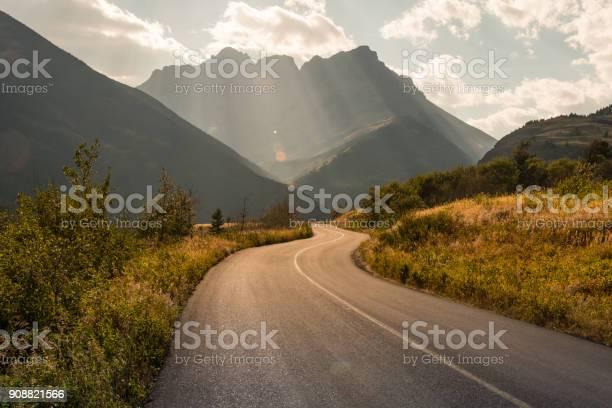 Photo of Road winding through Waterton National Park, Alberta, Canada