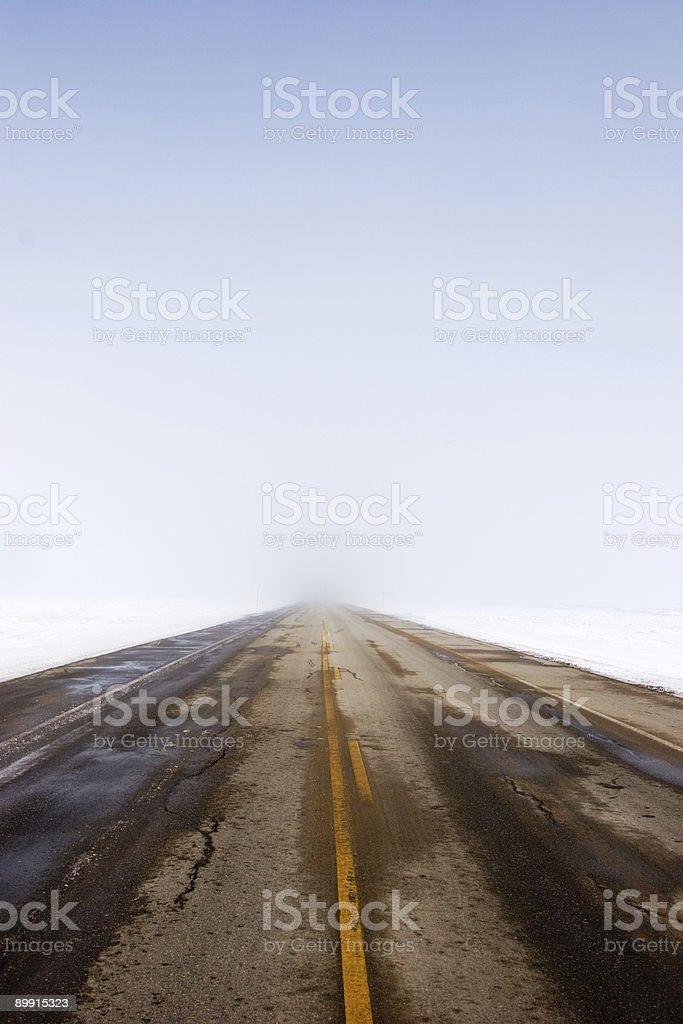 road with fog royalty-free stock photo