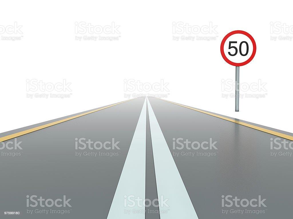 Route avec panneau photo libre de droits