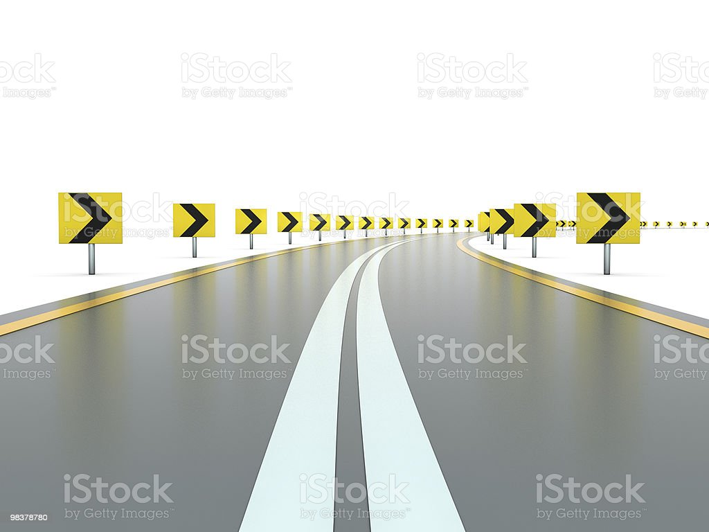 Road with signs royalty-free stock photo