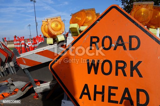 istock road work ahead sign 838920890