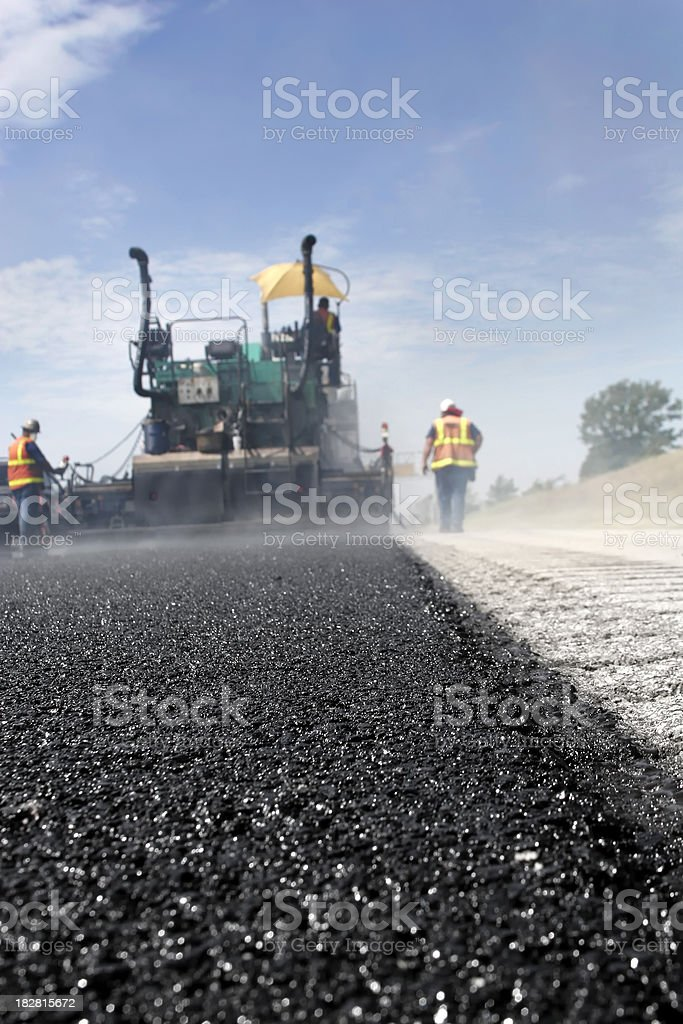 Road Work Asphalt royalty-free stock photo