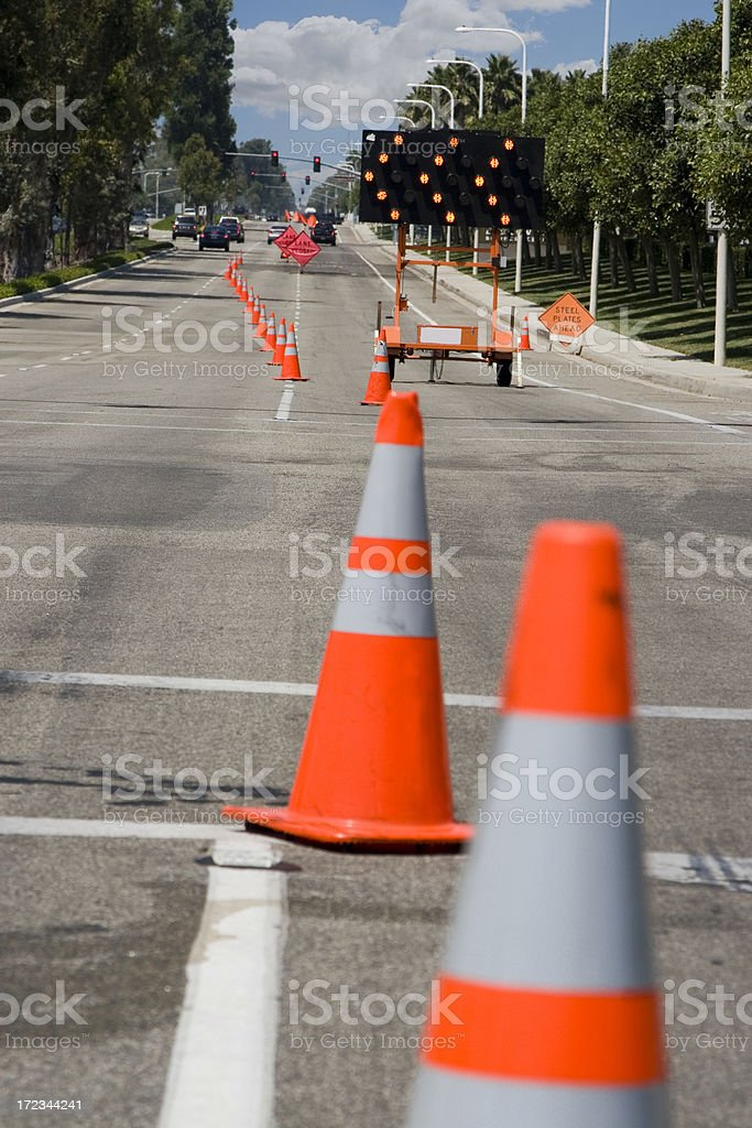 road work royalty-free stock photo