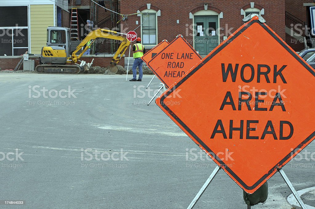 Road Work Signs stock photo