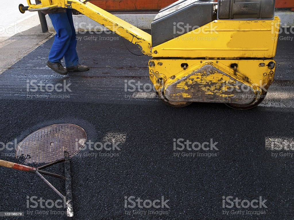 Road worker royalty-free stock photo