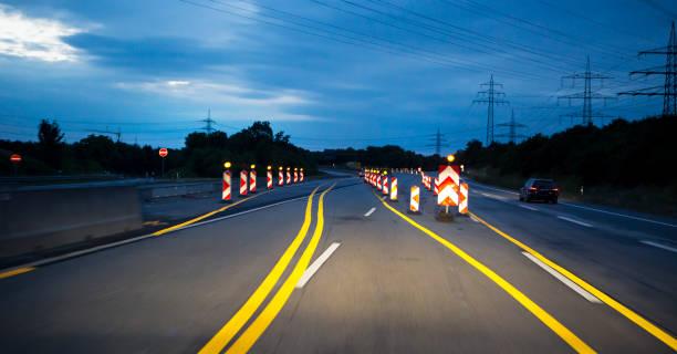 Baustellen auf der Autobahn – Foto