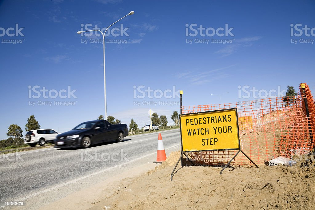 Road Works Sign royalty-free stock photo