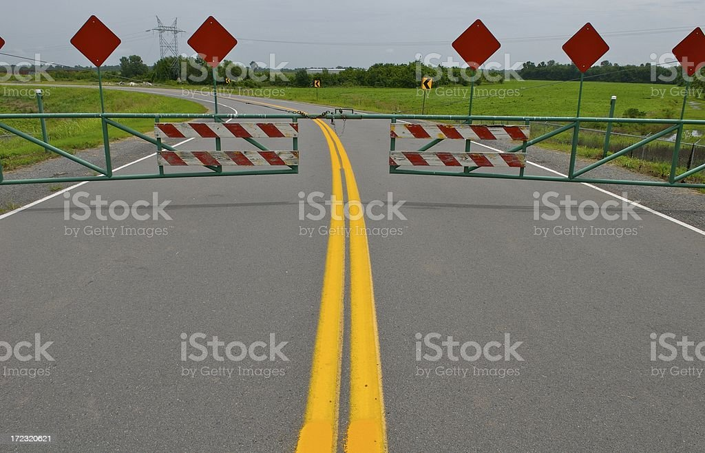 Roadblock royalty-free stock photo