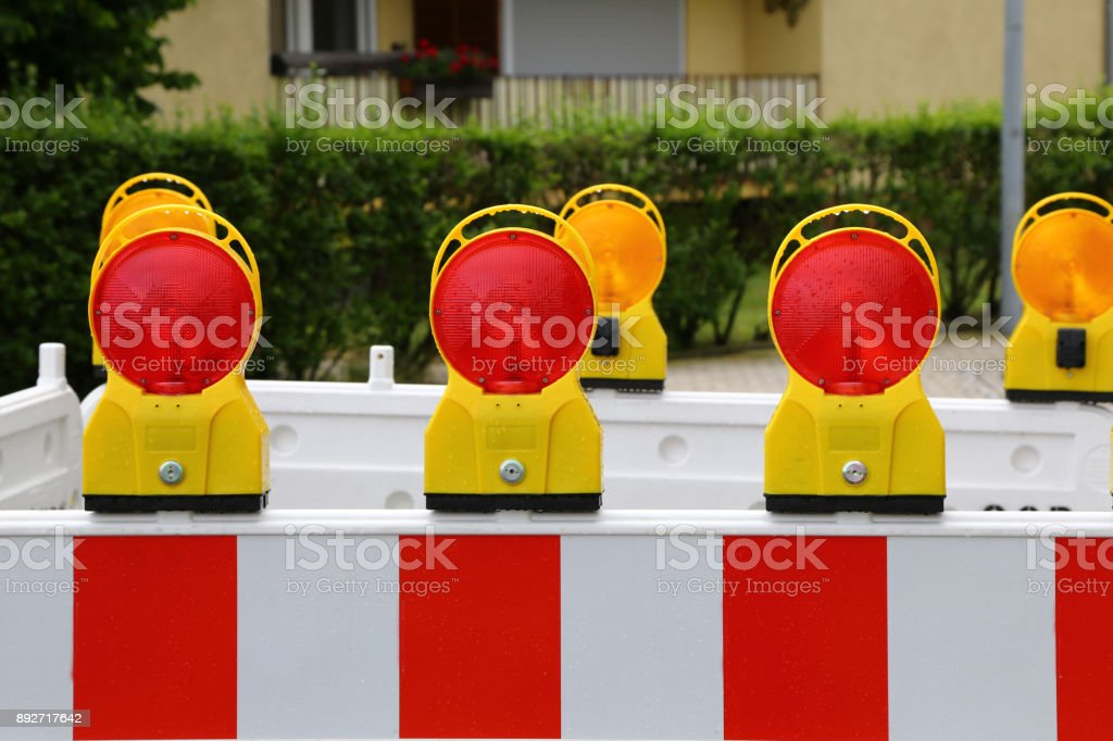 Roadblock stock photo