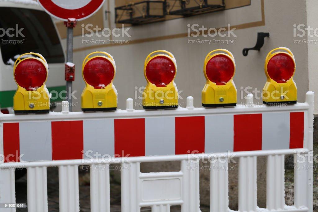 Roadblock stock photo