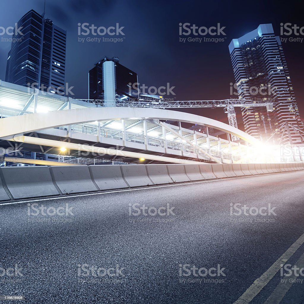 roads and cities royalty-free stock photo