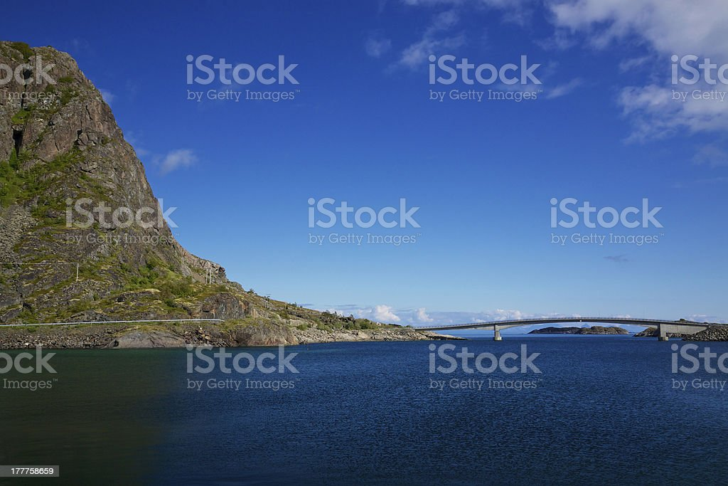 Roads in Norway royalty-free stock photo