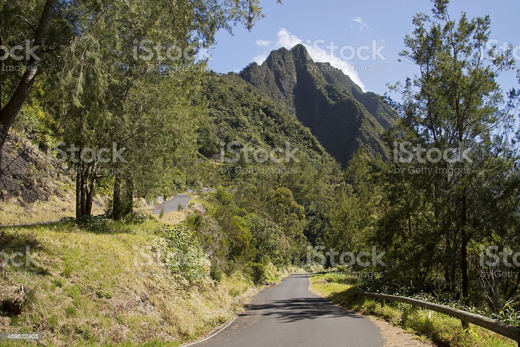 Roads in the mountains stock photo