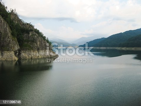 Artificial lake placed on Transalpina, Romania