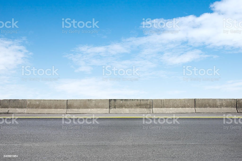 Roadside and concrete stock photo
