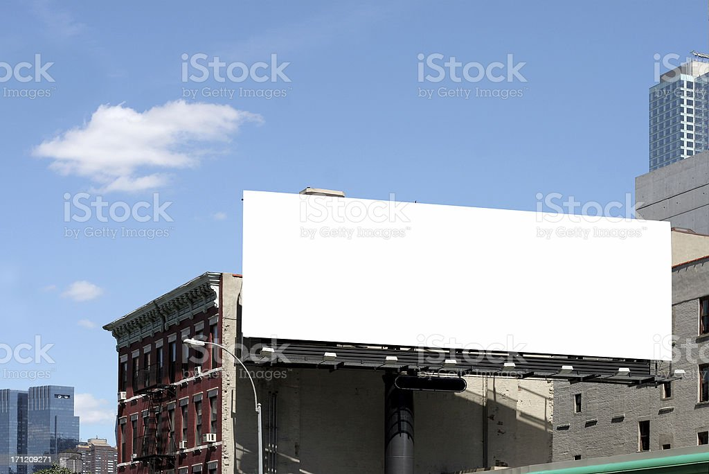 roadside billboard stock photo
