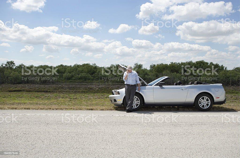 Roadside breakdown royalty-free stock photo