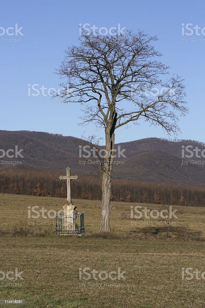 Roadside Crucifix stock photo