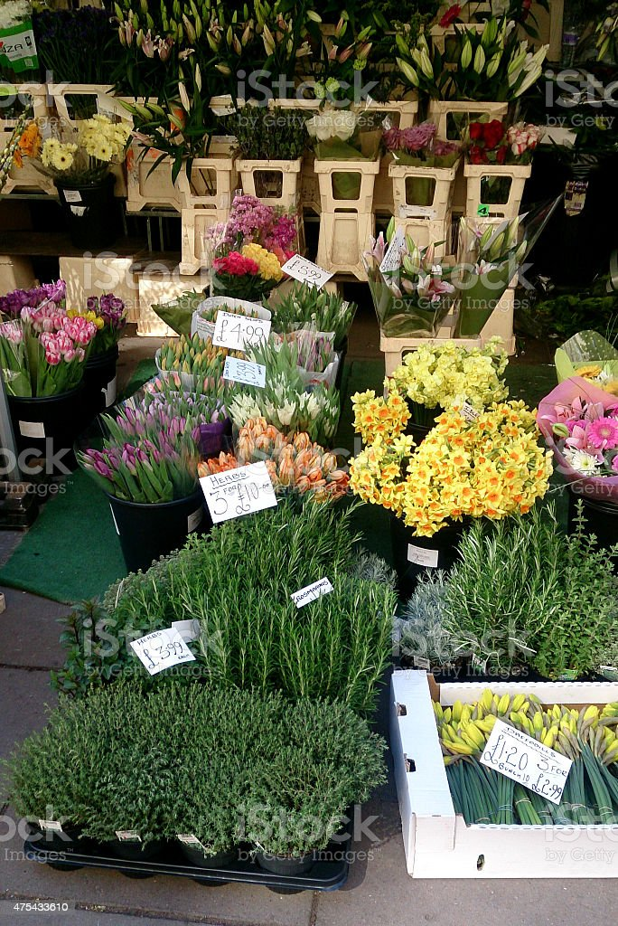 d63b3c82b570 Roadside Flower Stall At Bath Stock Photo - Download Image Now - iStock