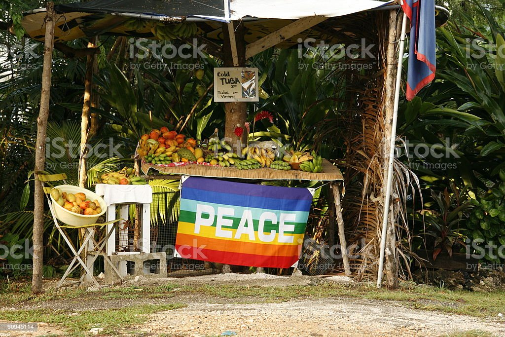Roadside fruit stand royalty-free stock photo