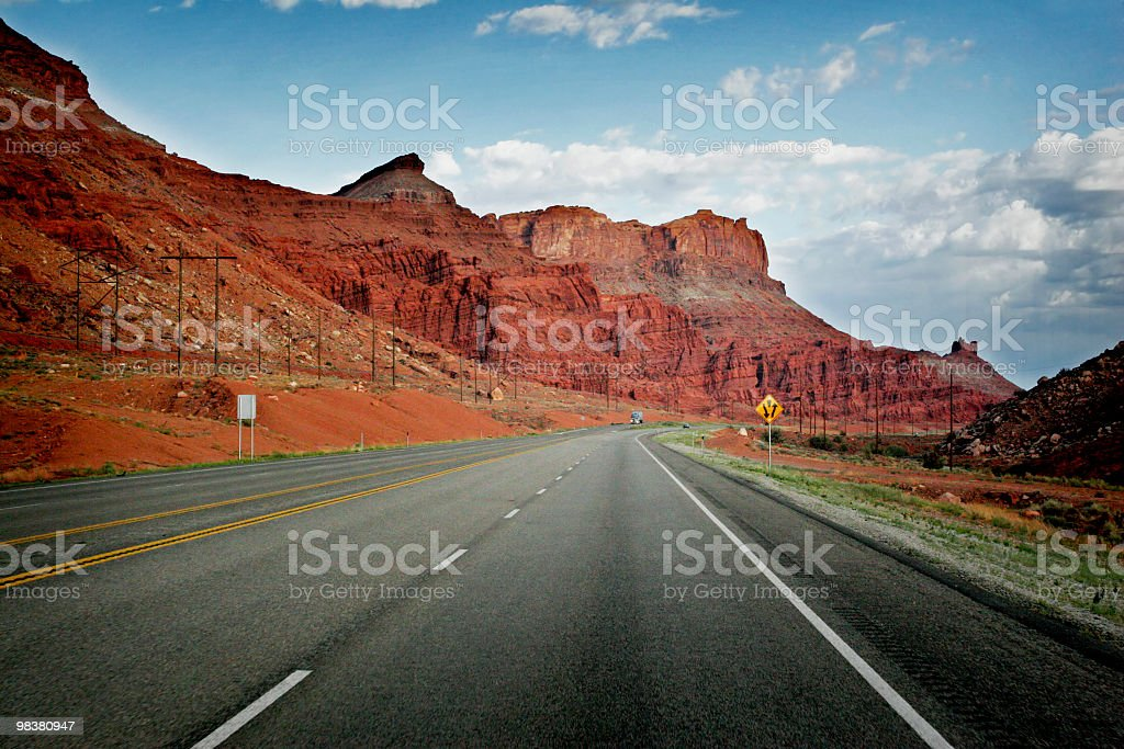 Roadside in Moab, Utah royalty-free stock photo