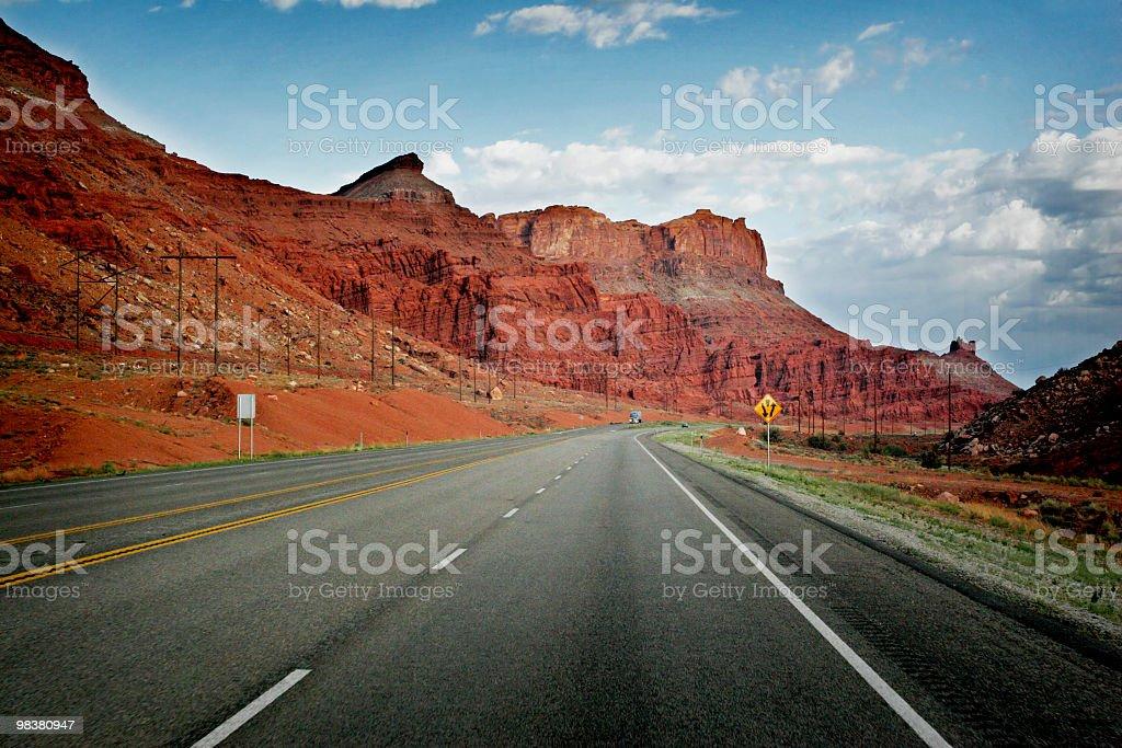 Assistenza stradale in Moab, Utah foto stock royalty-free