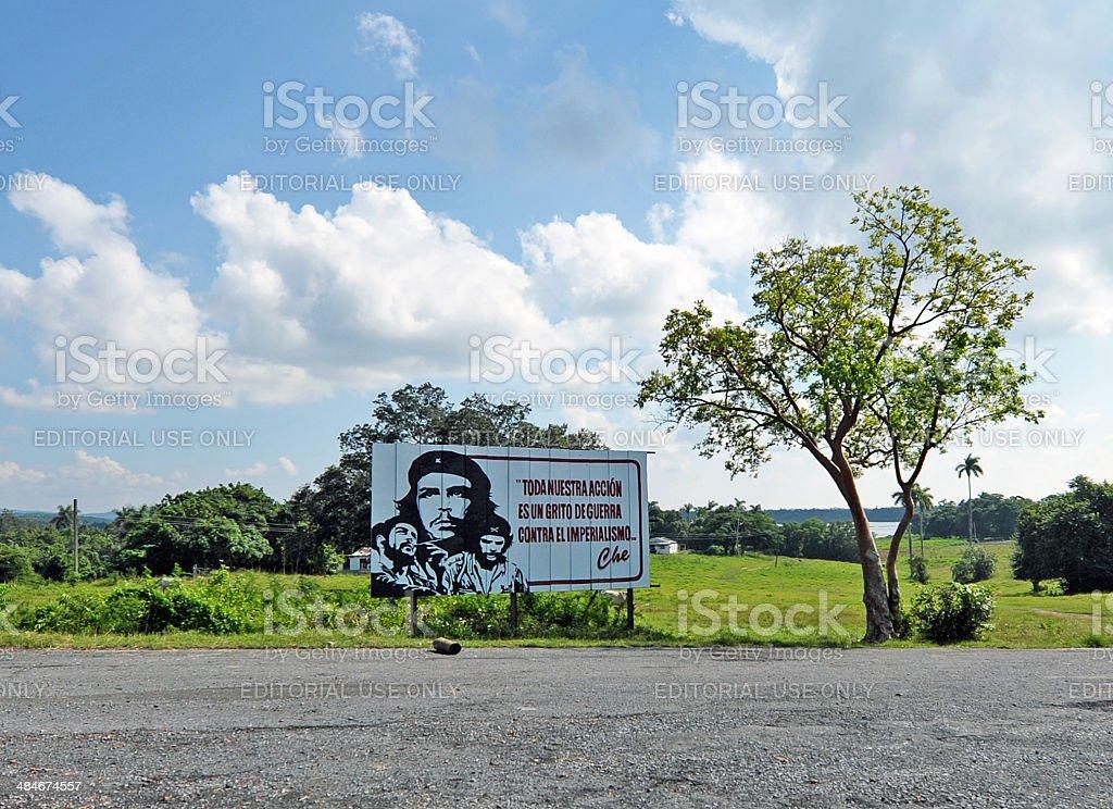 Roadside propaganda, Vinales, Cuba royalty-free stock photo