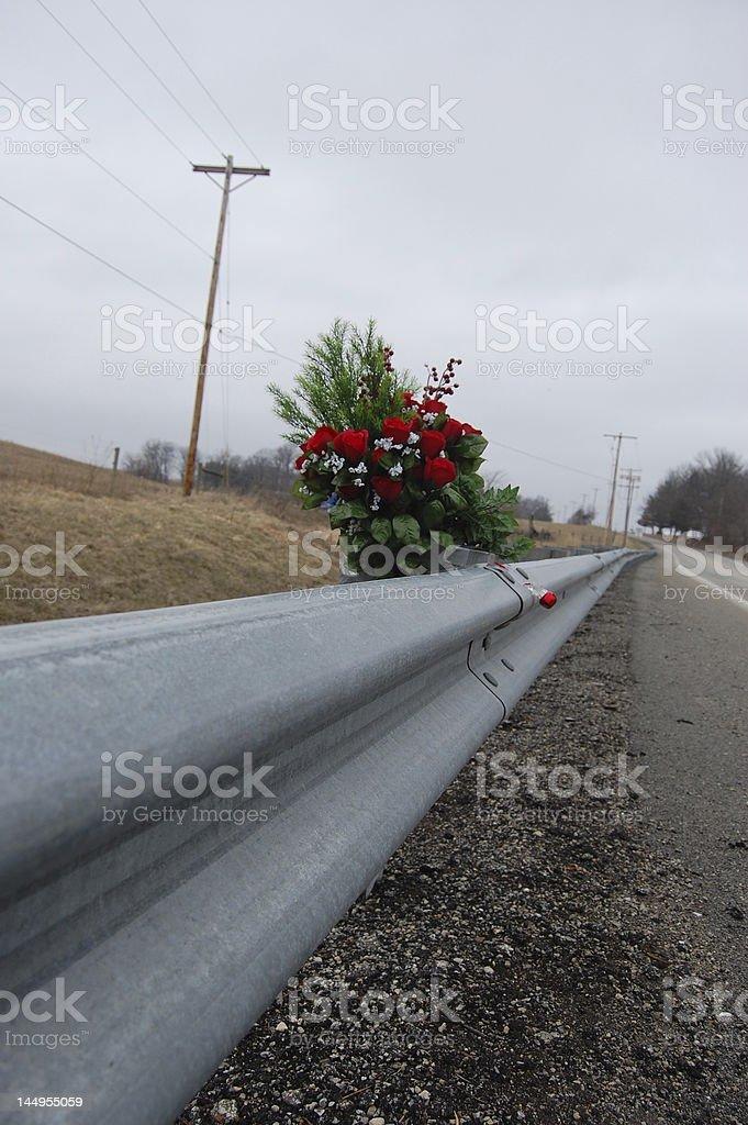 Roadside Rose Memorial royalty-free stock photo