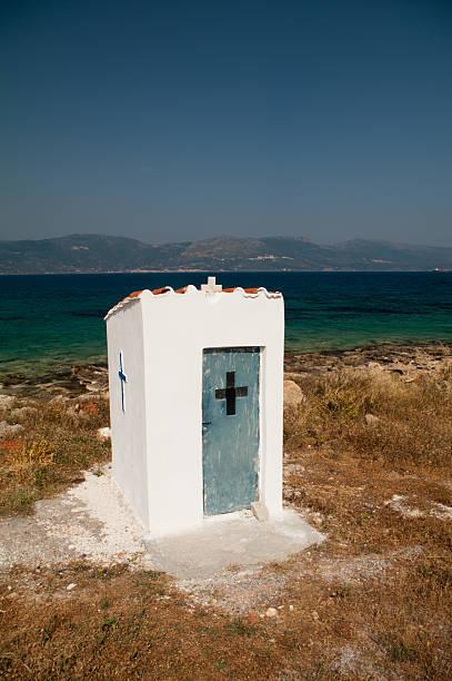 Straßenrand-Schrein, Elafoniisos Island, Griechenland – Foto
