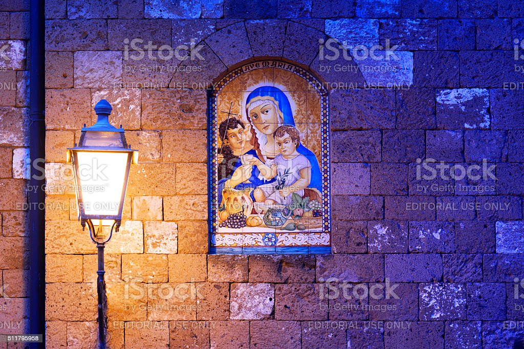 Roadside Shrine Holy Mother stock photo