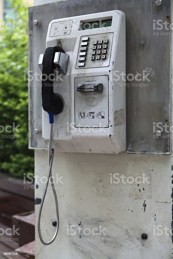 Roadside telephones royalty-free stock photo