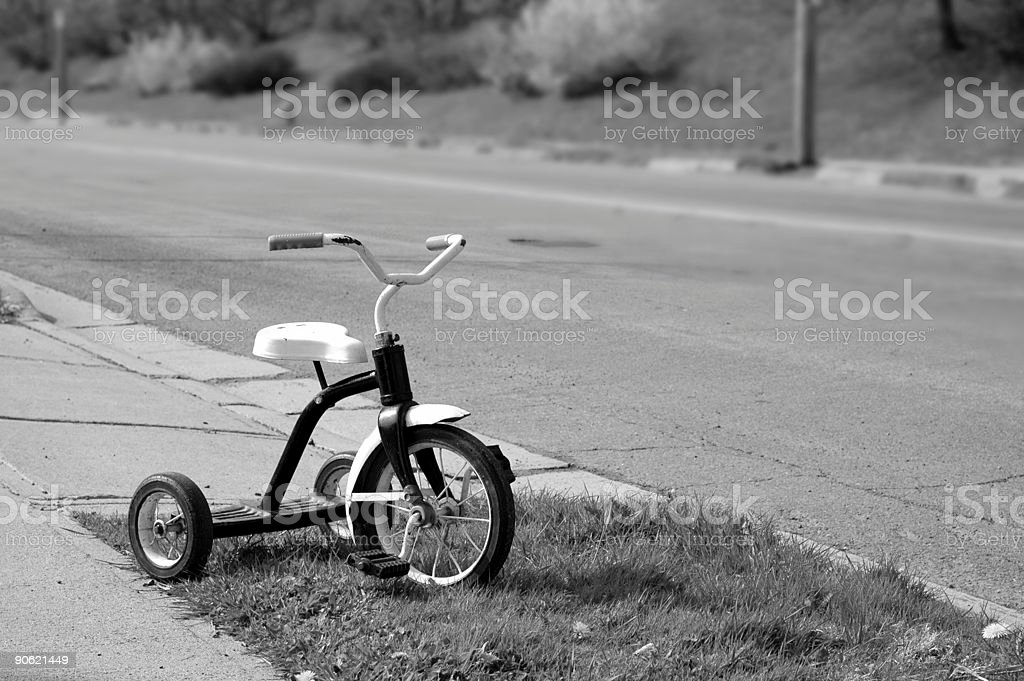 Roadside Tricycle stock photo