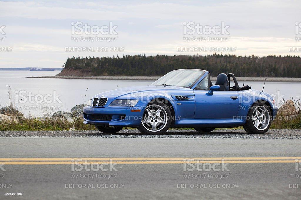 BMW M Roadster on Roadside royalty-free stock photo
