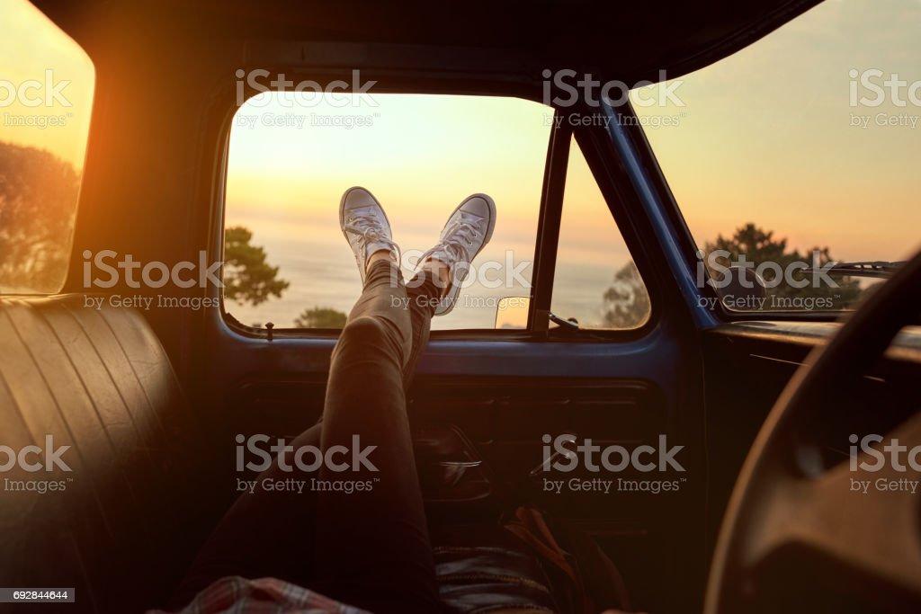 Roadtrip chill stock photo
