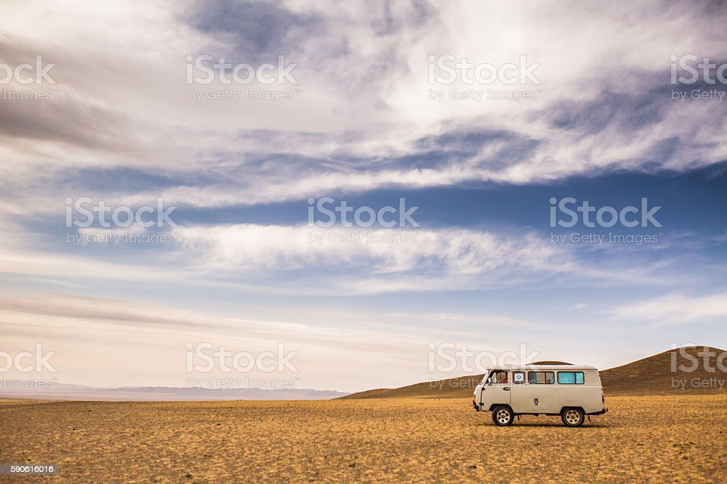 Roadtripping Mongolia stock photo
