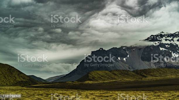 Photo of Roadview on mountains in Iceland.