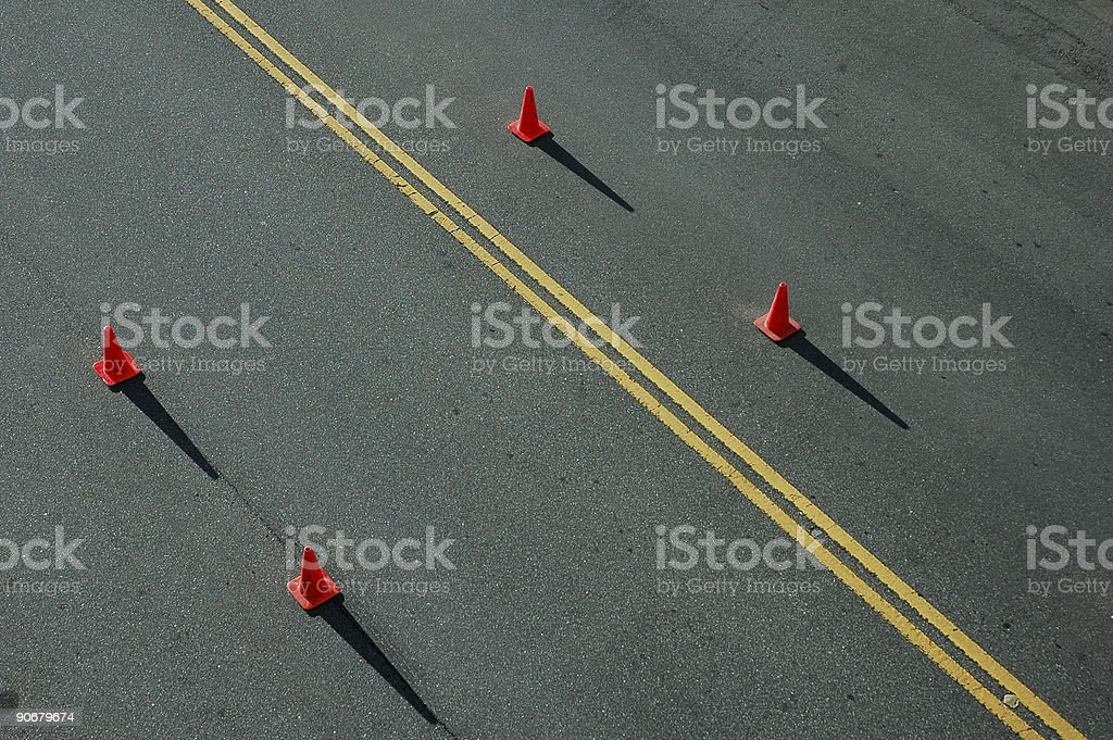 Roadway Cones 2 royalty-free stock photo