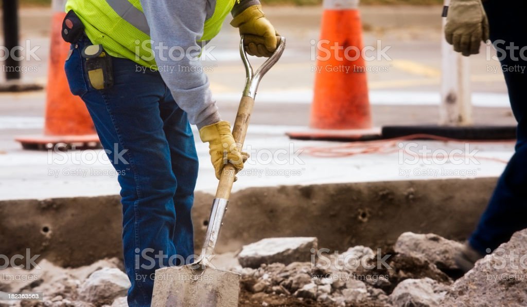roadwork royalty-free stock photo