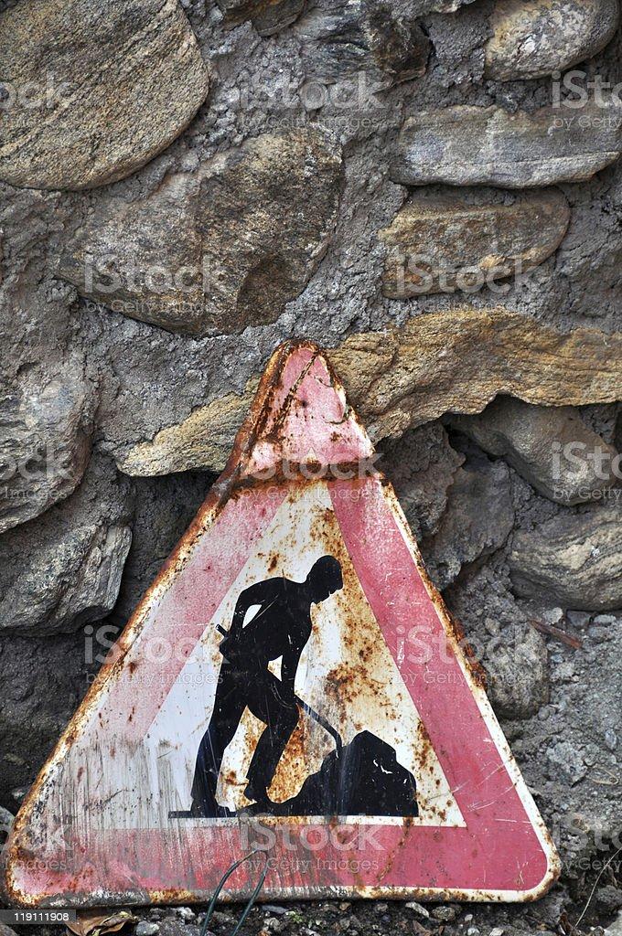Roadworks royalty-free stock photo