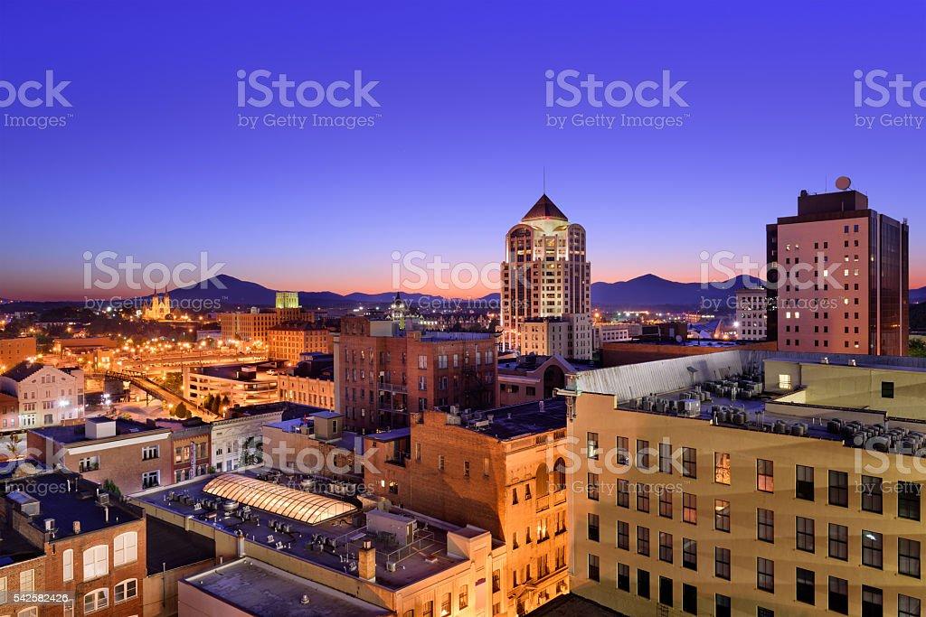 Roanoke Virginia Skyline stock photo