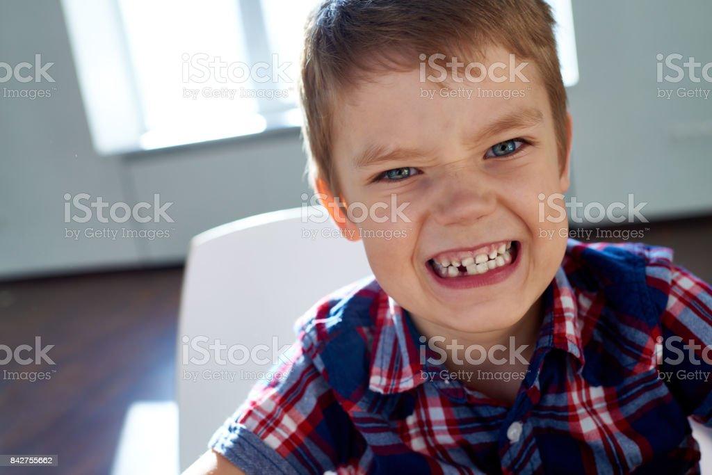 Roaring boy stock photo