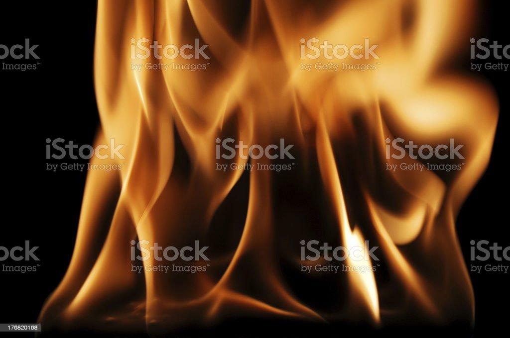 Roaring Fire stock photo