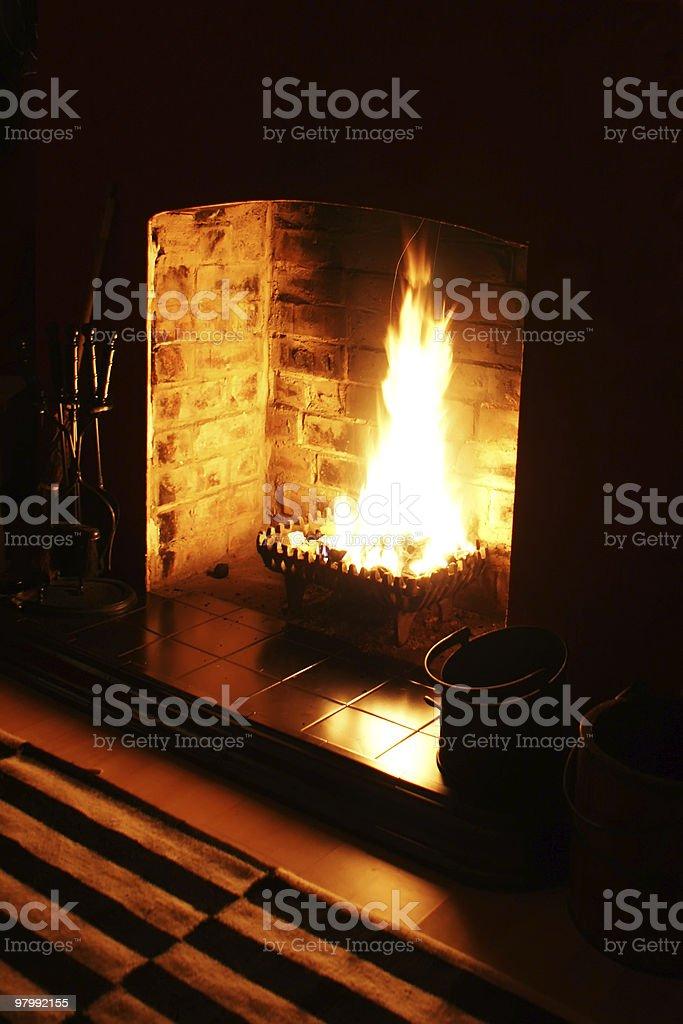 Roaring Fire royalty-free stock photo