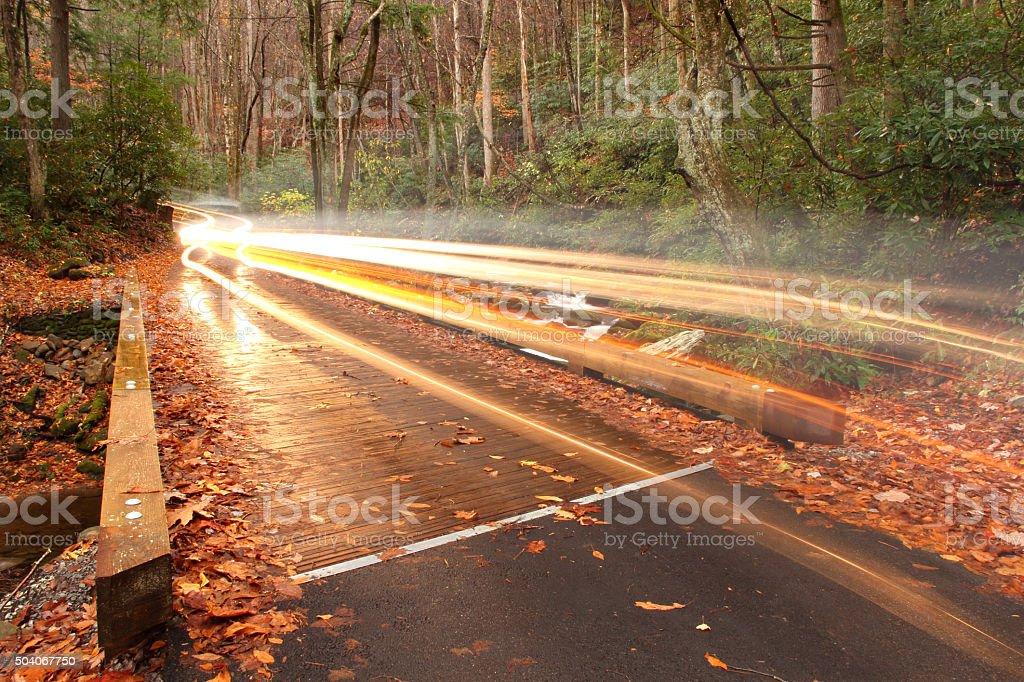 Roaring Fork Motor Nature Trail stock photo