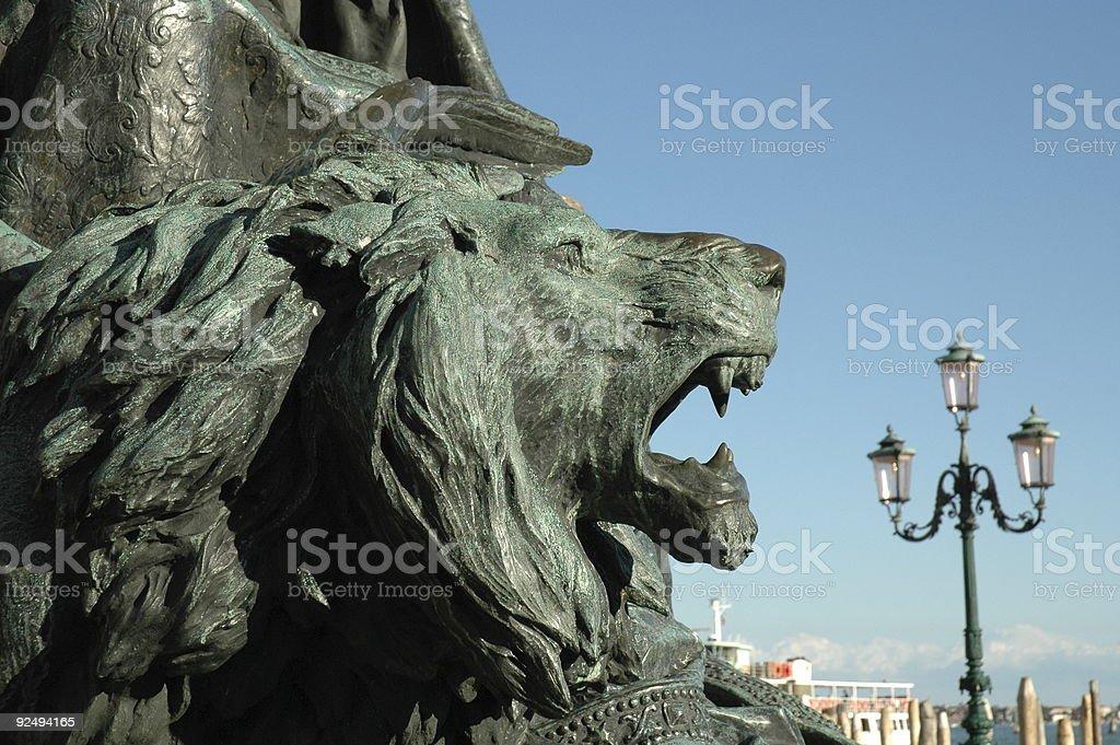 Roaring Löwe, Venedig, Italien. Lizenzfreies stock-foto