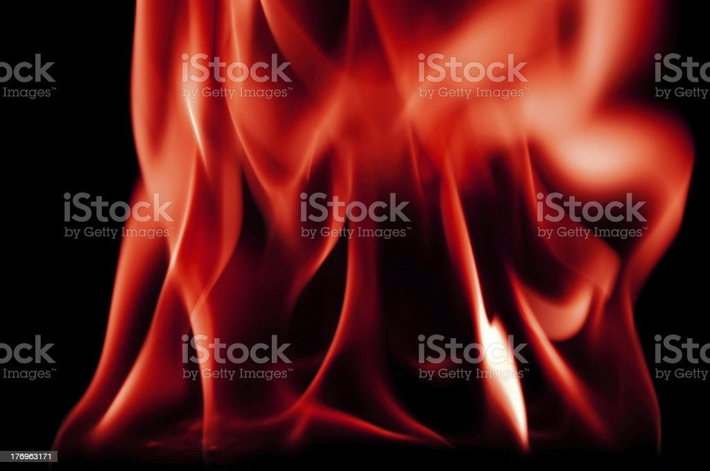 Roaring Red Fire royalty-free stock photo