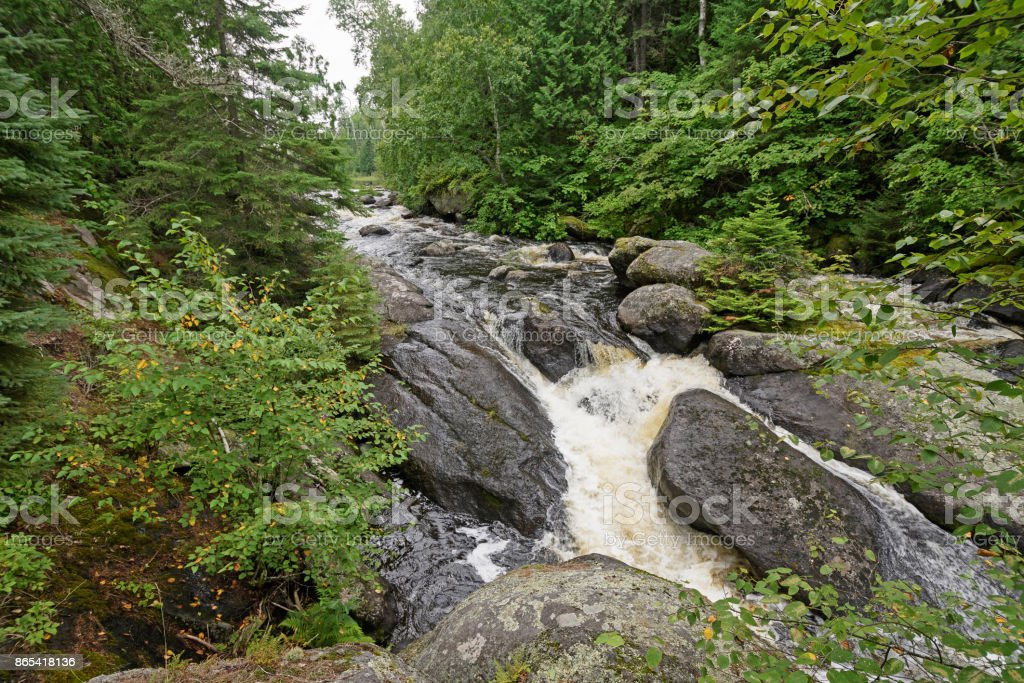 Roaring Waters in the Pines stock photo