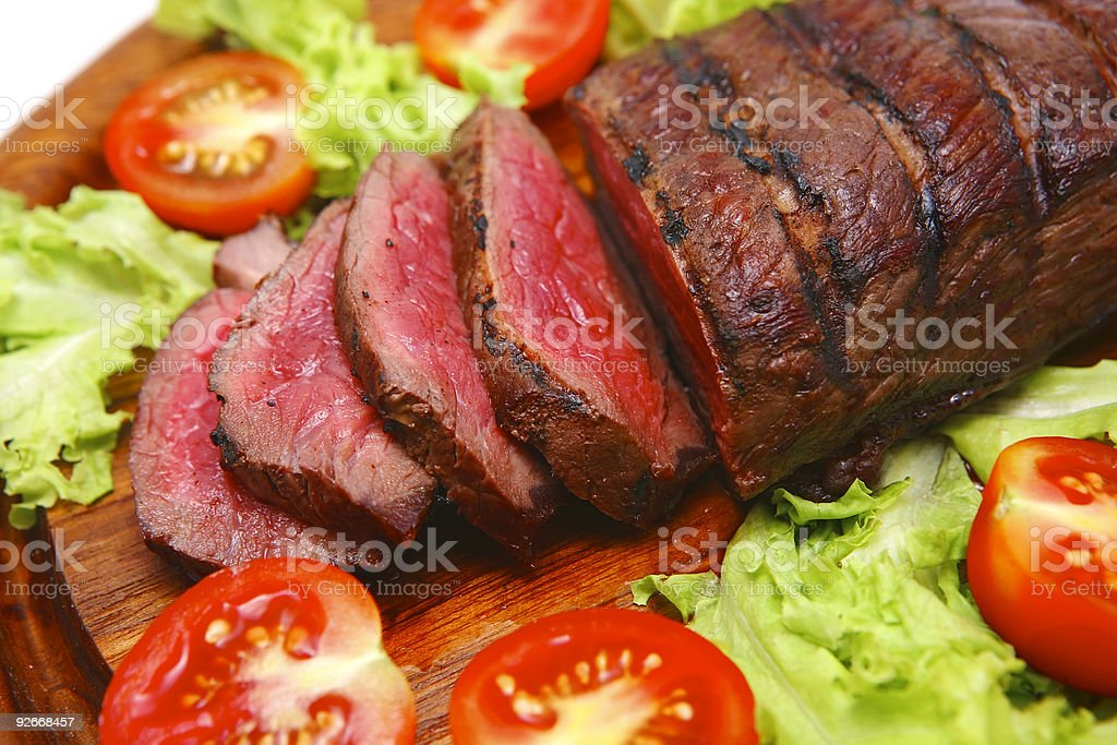 roast beef close up royalty-free stock photo