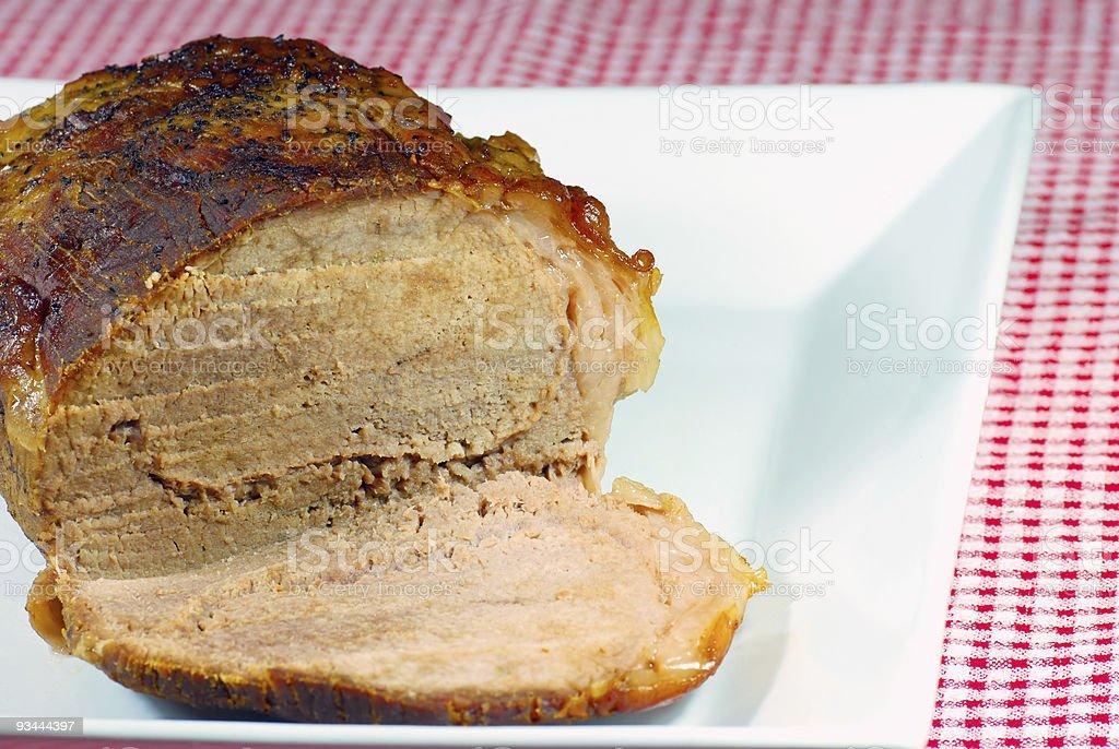 Roast beef close up royalty-free stock photo