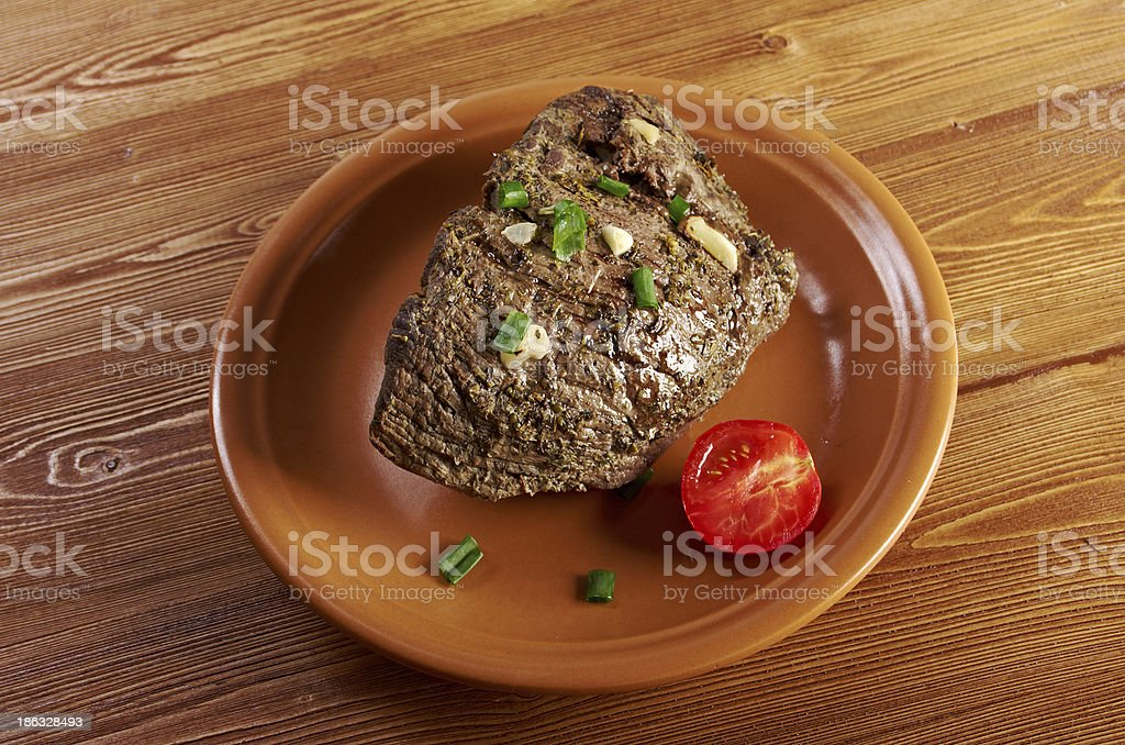 roast beef farm-style royalty-free stock photo